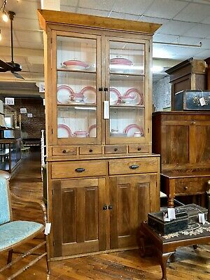 American Southern Pine Step Back Cupboard