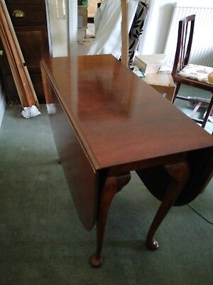 Antique Drop Leaf Mahogany Dining Table