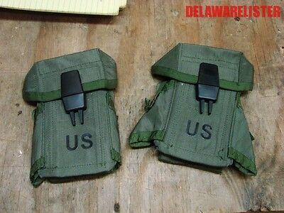*Military Army M16 Small Arms Ammo Pouch W/ Alice Clips Holds 3 Mags Lot of 2