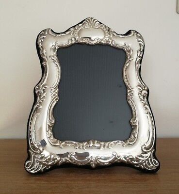 Beautiful Victorian Style Solid Silver Photo Frame Fully Hallmarked  22 x 17cm