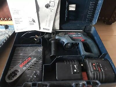 Bosch GBH24VRE Cordless Hammer Drill, 2x Batteries, Charger And Case
