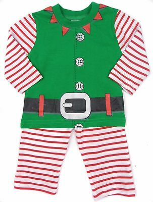 Baby Boys Christmas Xmas Elf PJs Pyjamas Dress Up Costume 6-12, 12-18 & 18-23mth