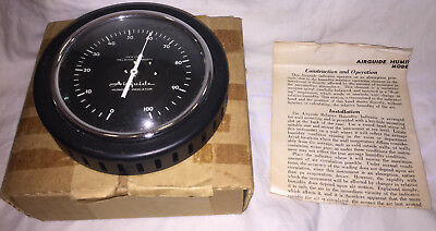 Vintage AIRGUIDE Relative Humidity Indicator Gauge - Model 605 New old Stock