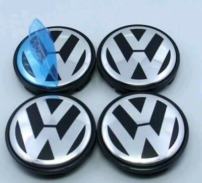 VW 55mm Alloy Wheel Centre Caps x 4. Golf Jetta Passat Beetle. 6N0 601 171. UK