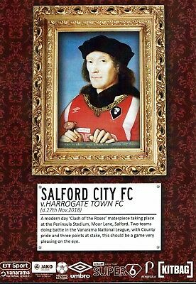 Salford City v Harrogate Town 27th November 2018 Official Matchday Programme
