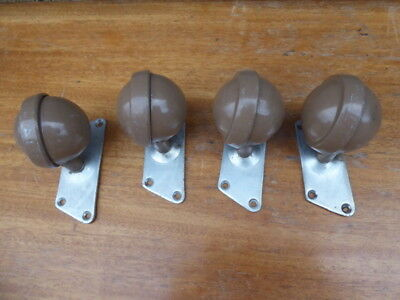 Used Vintage Archbald Kenrick Heavy duty Castors With Mounting Brackets