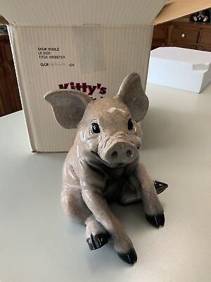 "Kitty's Critters ""Webster"" Pig Figurine -BNIB (Retired)"