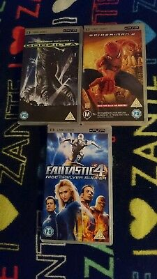 SPIDERMAN 2,fantastic 4, godzilla, umd films