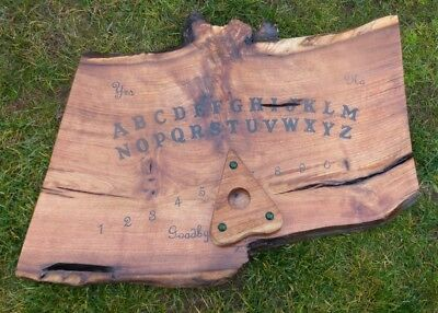 Ouija Board Wood Gothic Pagan Occult Ghost Hunting Haunted Black Game Witchboard