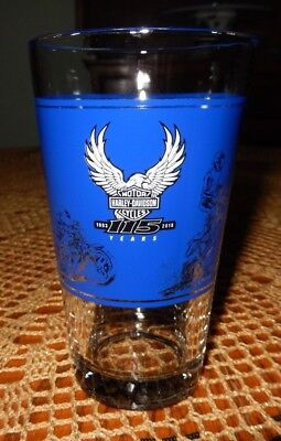 HARLEY DAVIDSON 115th ~ Pint Glass~ MILWAUKEE COUNTY PARKS ~ EXC~ Fast Shipping!