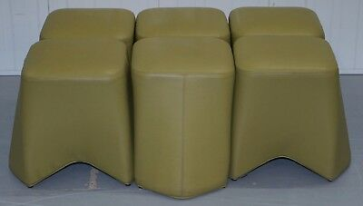 1 Of 6 Rrp £880 Each Boss Design Hoot Leather Stools Modular Contemporary Design