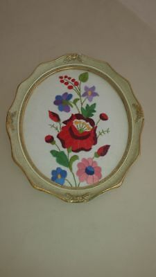 Embroidery framed