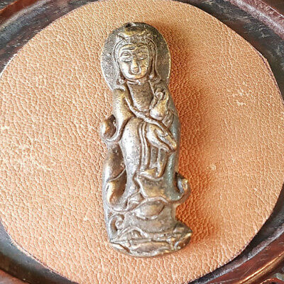 Antique Song Dynasty Bronze Tibetan Chinese Guanyin Buddha Pendent