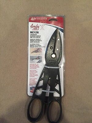 """New Malco MC12N Combination Snips,L&R Circles to 6"""" Diameter and Straight Cuts"""