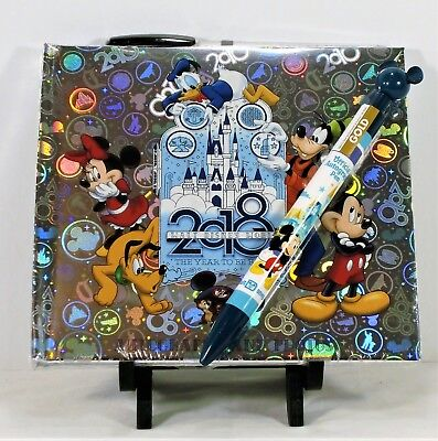 Walt Disney World 2018 Year To Be There Mickey Autograph Book & Matching Pen NEW