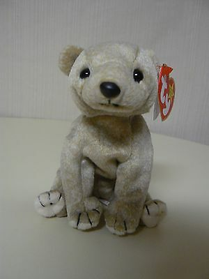 Ty Beanie Baby ALMOND Sitting Bear Plush Original Beanie Baby