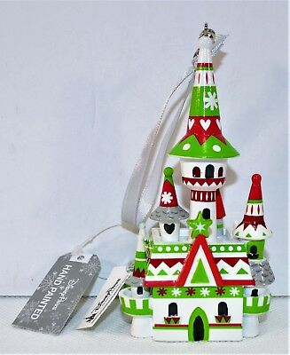 Disney Park Exclusive 2018 Christmas Holiday Castle Ornament BRAND NEW CUTE