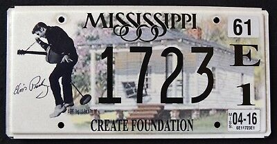 "MISSISIPPI ""  ELVIS PRESLEY "" RARE "" MS Specialty Graphic License Plate"