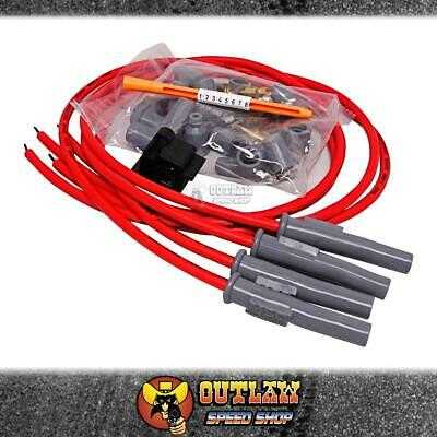 msd ht ignition lead kit 8 5mm motorcycle 4 cyl super conductor red -  msd31449