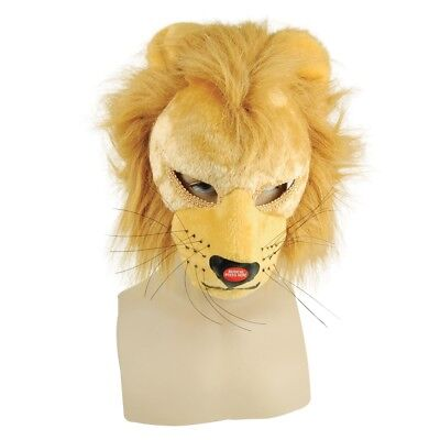 Childrens Lion Mask With Sound - Fancy Dress Face Animal Accessory Full Adult