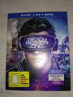Ready Player One (Blu-ray Disc, 2018 DVD and Digital HD) Includes Slipcover