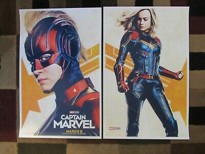 "Captain Marvel ( 11"" x 17"" )  Movie Collector's Poster Prints ( Set of 2 )"