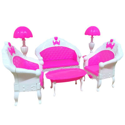 US 6Pcs Furniture Living Room Parlour Sofa Chair Set for Dollhouse