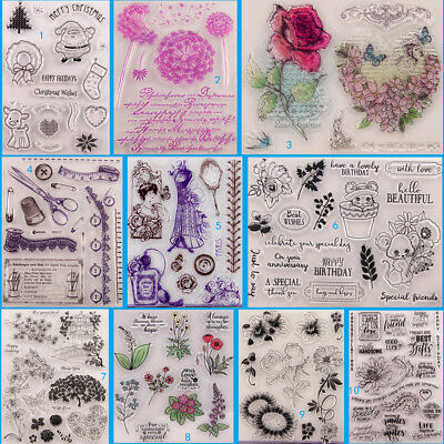 Flower Lady Transparent Silicone Clear Stamps DIY Scrapbook Embossing Card Art