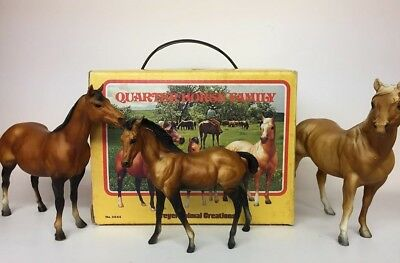 Breyer #3045 Classic Quarter Horse Famliy *CHALKY Stallion and Foal* Vintage Box
