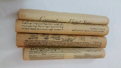 Parchment Declaration of Independence, Amendments, Gettysburg Address US History