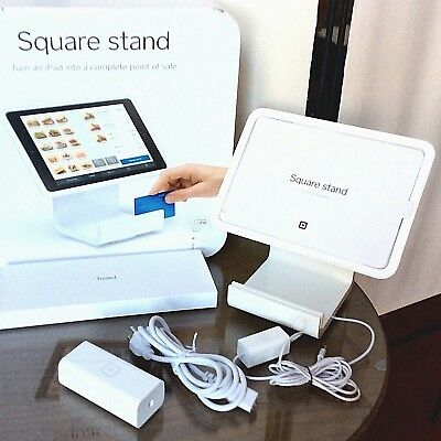 Square Stand POS Credit Card Register Mag Stripe Swipe for iPad Air / Lightning