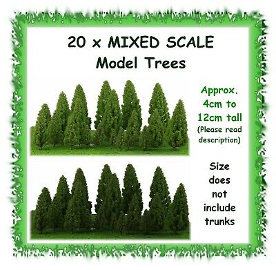 20pcs Mixed Scale Trees Model Train Forest Diorama Scenery Layout HO OO N Z O