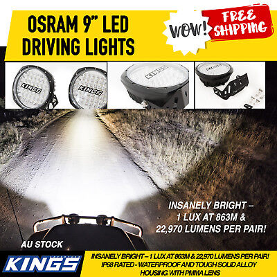 Adventure Kings 9 Inch LED Driving Lights With Plug N Play Smart Harness