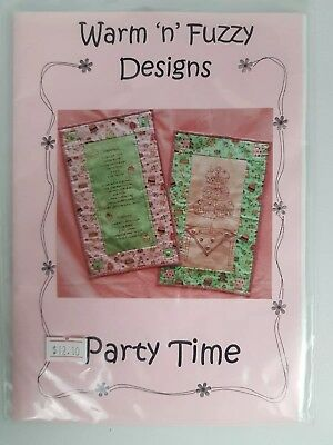 Warm 'n' Fuzzy Designs: Party Time (Stitchery Wall Hangings Patterns / Applique)