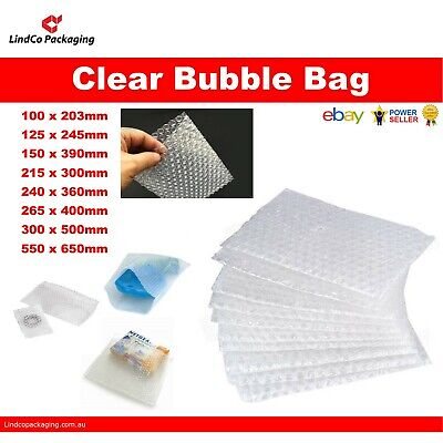 Clear Bubble Wrap Bag Bubble Pouch Cushioning Shipping Bags - 6 sizes available