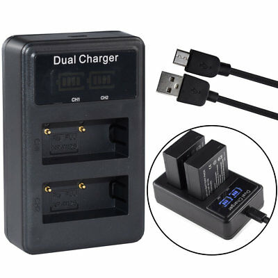 Dual LCD Battery Charger for FUJI NP-W126 X-Pro1 X-E1 X-E2 FinePix HS50 HS30 EXR