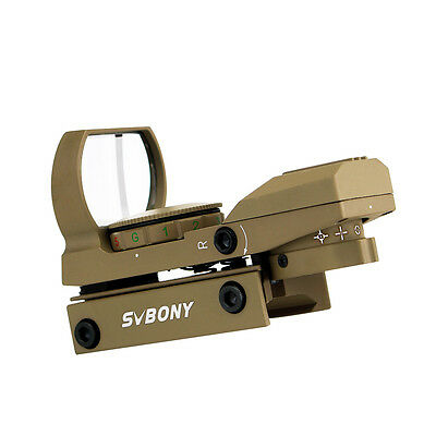 SVBONY Tactical4 Reticles Red Green Dot Reflex Sight+Weaver-Picatinny Rail Mount