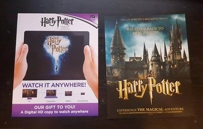 HARRY POTTER COMPLETE 8-Film Collection Blu-ray UV code