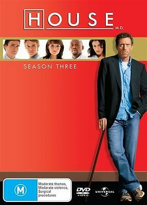 House : Season 3 (DVD, 6-Disc Box Set) R-4- NEW AND SEALED-FREE POSTAGE