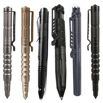 "Multi-function 6""Aluminum Tactical Pen Survival Glass Breaker Army Tools Gift UK"