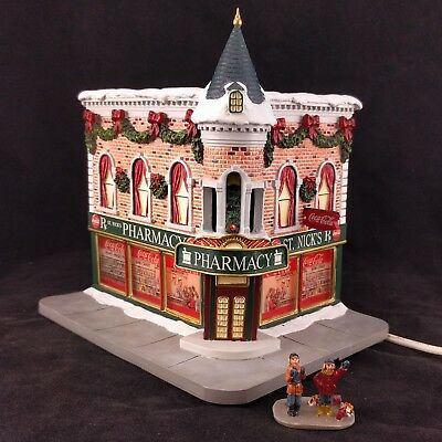 """Hawthorne Village Coca-Cola Holiday Village Collection """"St. Nick's Pharmacy"""""""