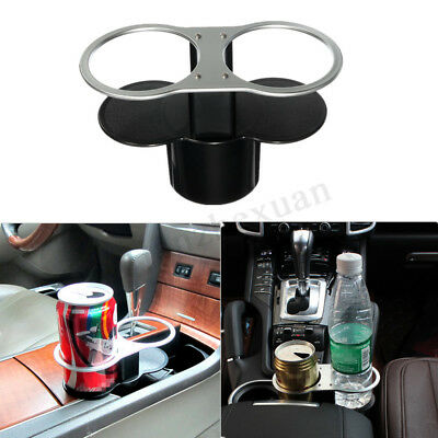 Universal Car Auto Vehicle Seat Wedge Bottle Dual Drink Cup Holder Mount !