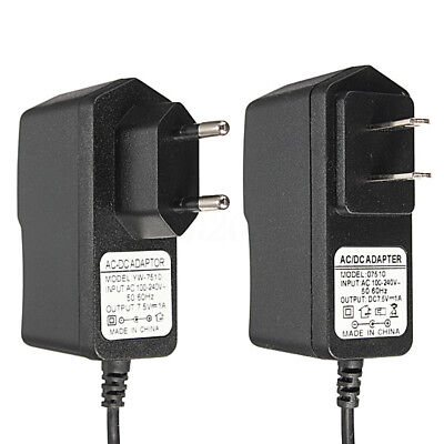 AC 100-240V DC 7.5V 1A 7.5W Switching Power Supply Adapter Charger EU&US Plug