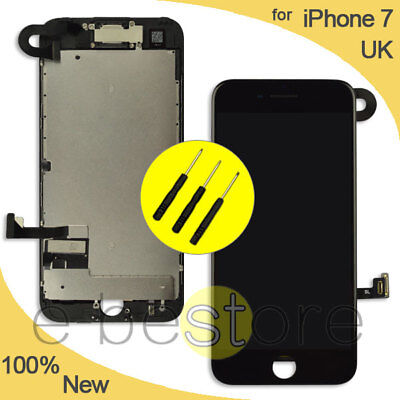 For iPhone 7 Screen Replacement LCD Display Touch Digitizer with Camera Black