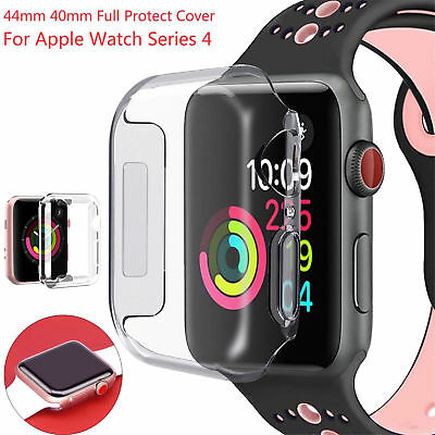 For Apple Watch Series 4 Case iwatch TPU Screen Protector 40/44mm Clear AU NEW