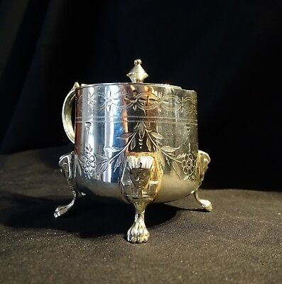 Moutardier argent massif style Empire XIX siècle -mustard pot solid silver 19th