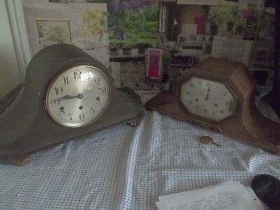 old wooden clocks x2