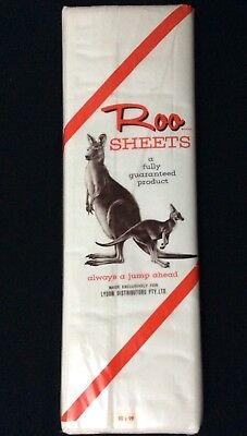Vintage Roo Brand   White  Sheets  ...new In Original Packaging   Cotton