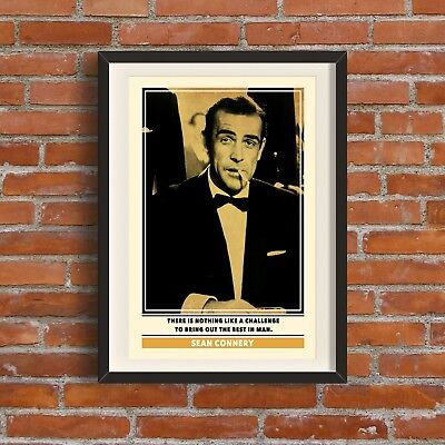 Sean Connery Quote Print | Quality A3 Poster James Bond Pop Art Retro Gift Dad
