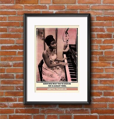 Aretha Franklin Quote Print | Quality A3 Poster Soul Pop Art Retro Gift Music